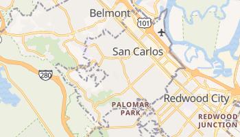 San Carlos, California map