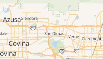San Dimas, California map