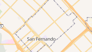 San Fernando, California map