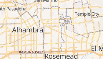 San Gabriel, California map