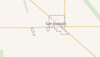 San Joaquin, California map