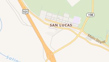 San Lucas, California map