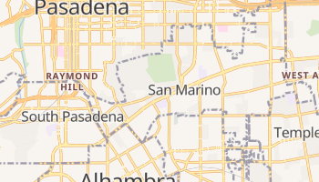 San Marino, California map