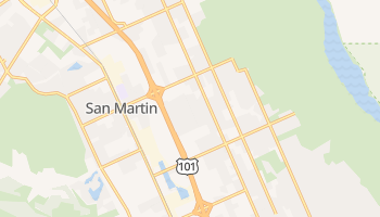 San Martin, California map