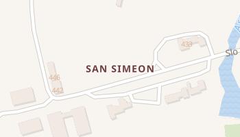 San Simeon, California map