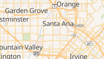 Santa Ana, California map