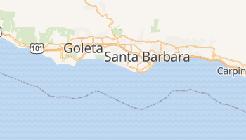 Santa Barbara, California map