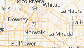 Santa Fe Springs, California map