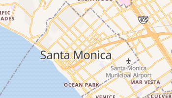 Santa Monica, California map