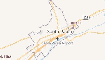 Santa Paula, California map