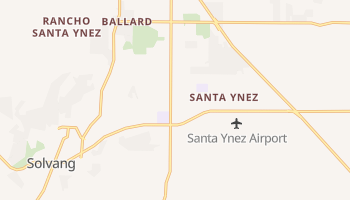 Santa Ynez, California map