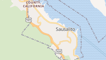 Sausalito, California map