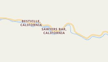 Sawyers Bar, California map