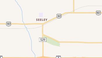 Seeley, California map