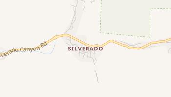 Silverado, California map