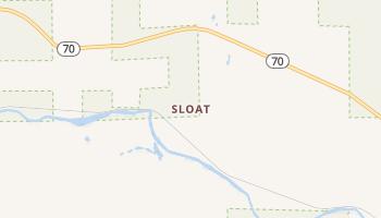 Sloat, California map