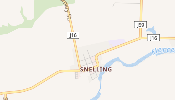 Snelling, California map