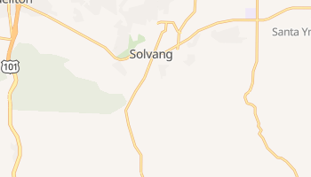 Solvang, California map