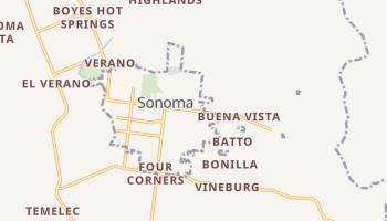 Sonoma, California map