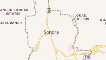 Sonora, California map