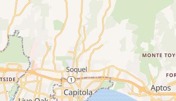 Soquel, California map