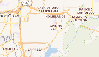 Spring Valley, California map