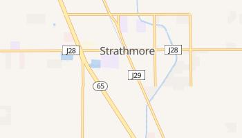 Strathmore, California map