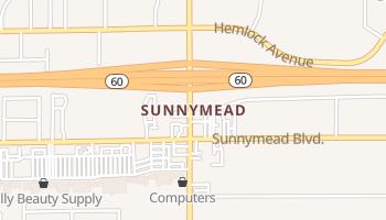 Sunnymead, California map