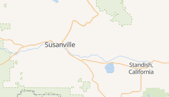 Susanville, California map
