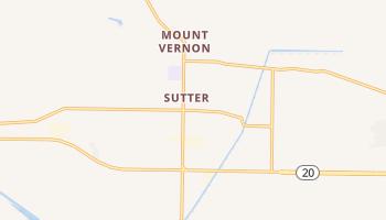 Sutter, California map