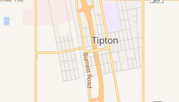 Tipton, California map