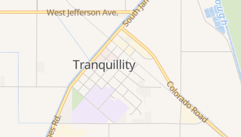 Tranquillity, California map