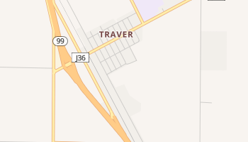 Traver, California map