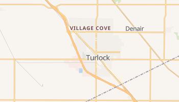 Turlock, California map