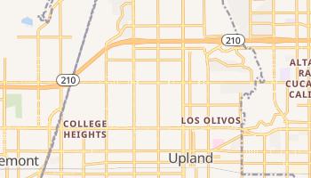 Upland, California map