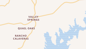 Valley Springs, California map