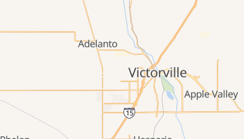 Victorville, California map
