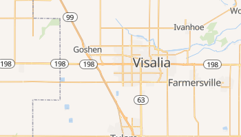Visalia, California map