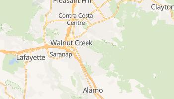Walnut Creek, California map