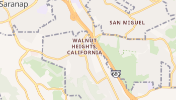 Walnut Heights, California map