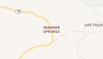 Warner Springs, California map