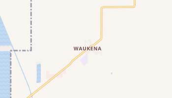 Waukena, California map
