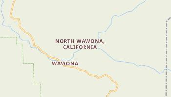 Wawona, California map