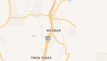 Weimar, California map