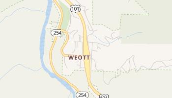 Weott, California map