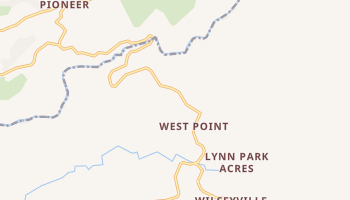 West Point, California map