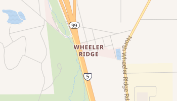 Wheeler Ridge, California map