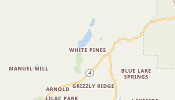 White Pines, California map