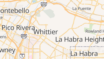 Whittier, California map