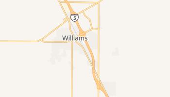 Williams, California map